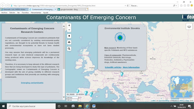 Contaminants of Emerging Concern Research Centers