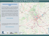 Cartographic viewer on Contaminants of Emerging Concern